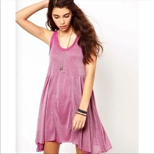 Free People Beach Pink Shimmer Sparkle Dress